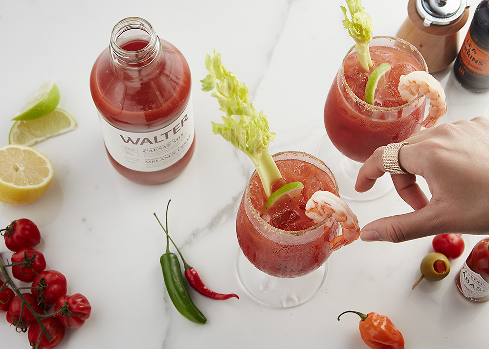 Bloody Ceasars made with Walter Ceasar Mix