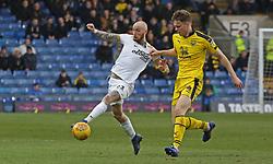 Marcus Maddison of Peterborough United battles with Rob Dickie of Oxford United - Mandatory by-line: Joe Dent/JMP - 16/02/2019 - FOOTBALL - Kassam Stadium - Oxford, England - Oxford United v Peterborough United - Sky Bet League One