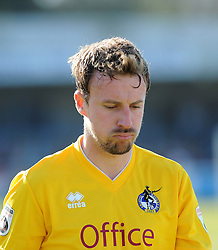 A glum Bristol Rovers' Chris Lines  - Photo mandatory by-line: Neil Brookman/JMP - Mobile: 07966 386802 - 18/04/2015 - SPORT - Football - Dover - Crabble Athletic Ground - Dover Athletic v Bristol Rovers - Vanarama Football Conference