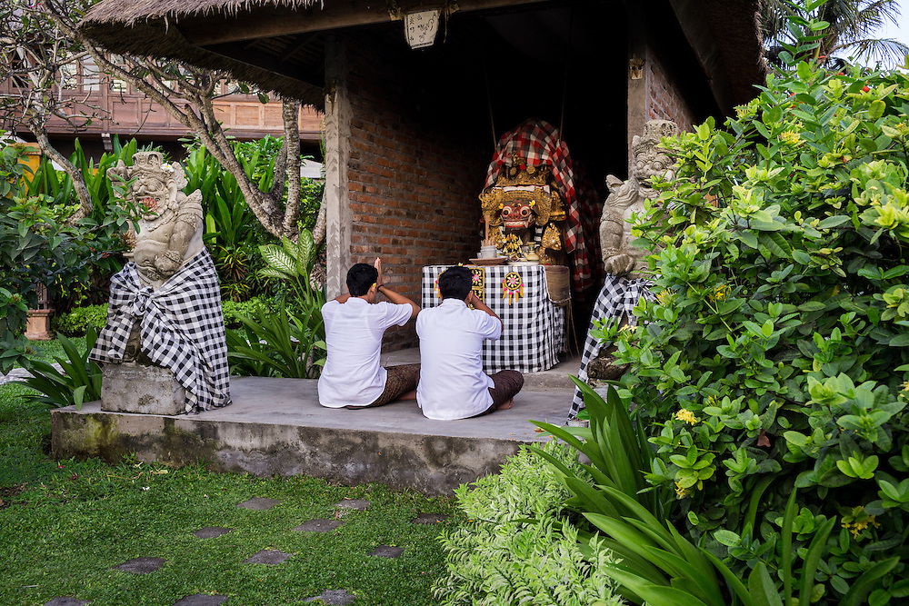 Praying altars at Tugu Hotel Bali.