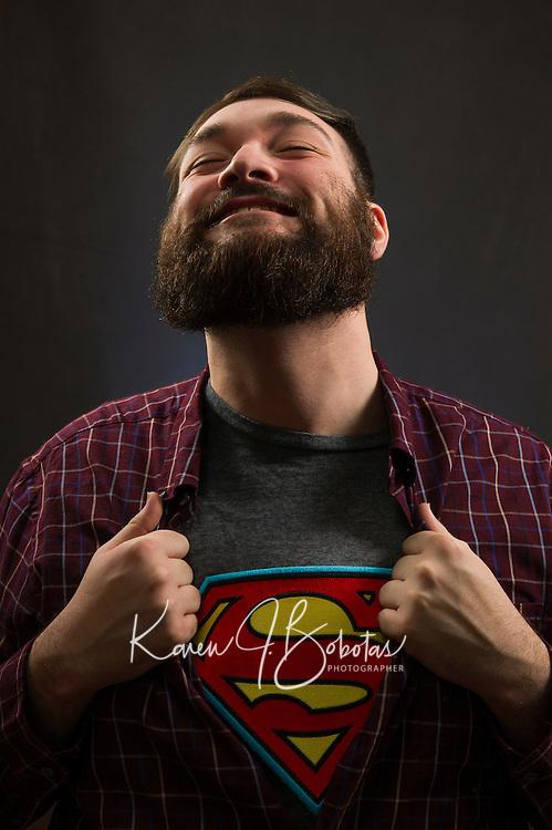 Devon's Headshot Session.   ©2016 Karen Bobotas Photographer