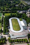Nederland, Amsterdam, Watergraafsmeer, 25-05-2010. De Meer, sportpark Middenmeer Voorland, Jaap Edenbaan (voorjaar, zonder ijs)..luchtfoto (toeslag), aerial photo (additional fee required).foto/photo Siebe Swart