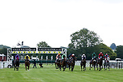 The horses are released from the starting stalls for the Sky Sports Racing Sky 415 Handicap - Mandatory by-line: Robbie Stephenson/JMP - 18/07/2020 - HORSE RACING- Bath Racecourse - Bath, England - Bath Races 18/07/20