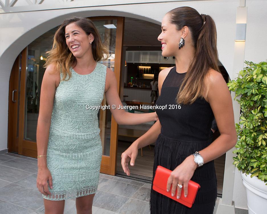 Mallorca Open Players Party, Ana Ivanovic (SRB) und Garbine Muguruza (ES)<br /> <br /> Tennis -  -  WTA -  Hotel Playa Golf - Playa de Palma  -  - Spanien  - 12 June 2016.