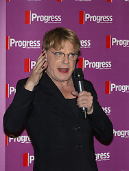 © Licensed to London News Pictures . 27/09/2015 . Brighton , UK . EDDIE IZZARD at a Progress Rally fringe event at screen one of the Odeon Cinema on Brighton seafront , during the 2015 Labour Party Conference . Photo credit : Joel Goodman/LNP