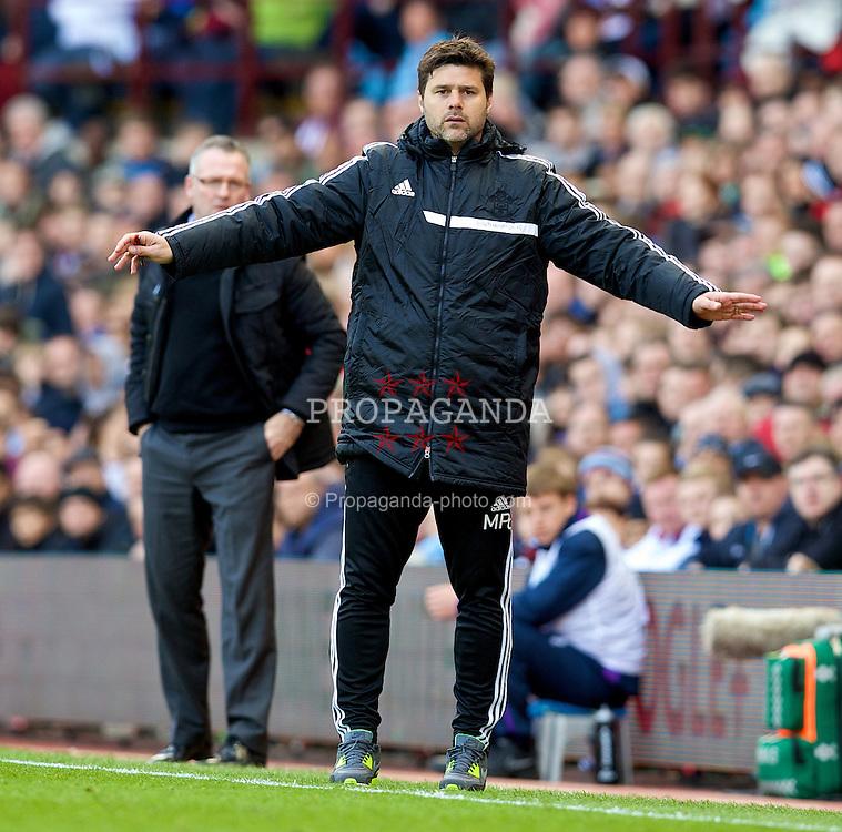 BIRMINGHAM, ENGLAND - Saturday, April 19, 2014: Southampton's manager Mauricio Pochettino during the Premiership match against Aston Villa at Villa Park. (Pic by David Rawcliffe/Propaganda)