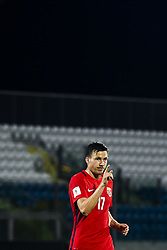 October 5, 2017 - San Marino, SAN MARINO - 171005 Martin Linnes of Norway celebrates 8-0 during the FIFA World Cup Qualifier match between San Marino and Norway on October 5, 2017 in San Marino. .Photo: Fredrik Varfjell / BILDBYRN / kod FV / 150027 (Credit Image: © Fredrik Varfjell/Bildbyran via ZUMA Wire)