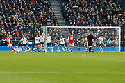 Beth Mead takes a free kick during the FA Women's Super League match between Tottenham Hotspur Women and Arsenal Women FC at Tottenham Hotspur Stadium, London, United Kingdom on 17 November 2019.