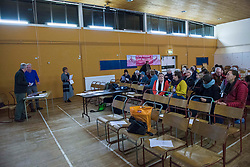 The community group behind the first successful urban Right To Buy in Scotland held their AGM last night in the building bought for the community last year. A well attended meeting in Bellfield Halls, Portobello Edinburgh heard from members of the Action Porty board and the Development Manager employed by the group to progress the project as the site is made ready to re-open to the local community, The current schedule should see the official re-opening in June 2018. © Jon Davey/ EEm