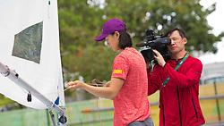 Brazil Rio de Janeiro 2. August 2016 Marina di Gloria, Rio 2016 Olympic Games<br /> Preparation day<br /> Laser Radial CHN Xu Lijia CHNLX2<br /> <br /> ©Jürg Kaufmann go4image.com