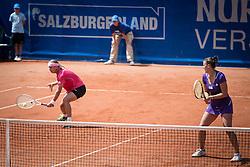 21.07.2013, Hotel Europaeischer Hof, Bad Gastein, AUT, WTA Tour, Nuernberger Gastein Ladies 2013, Finale Doppel, im Bild v.r.n.l. Andreja Klepac (SLO) und Sandra Klemenschits (AUT) // f.r.t.l. Andreja Klepac of Slovenia and Sandra Klemenschits of Austria during the doubles Final match of Nuernberger Gastein ladies tennis tournament of the WTA Tour at the Hotel 'Europaeischer Hof' in Bad Gastein, Austria on 2013/07/21. EXPA Pictures © 2013, PhotoCredit: EXPA/ Johann Groder