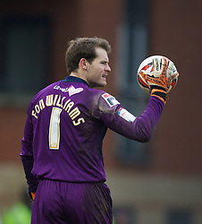 LONDON, ENGLAND - Saturday, February 9, 2013: Tranmere Rovers' goalkeeper Owain Fon Williams in action against Leyton Orient during the Football League One match at Brisbane Road. (Pic by David Rawcliffe/Propaganda)