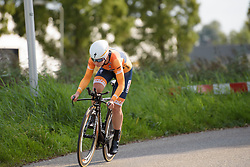 Amy Pieters at Boels Rental Ladies Tour Stage 3 a 16.9 km individual time trial in Roosendaal, Netherlands on August 31, 2017. (Photo by Sean Robinson/Velofocus)