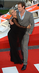 Rush - UK film premiere. <br /> Actor Chris Hemsworth with partner Elsa Pataky during the 'Rush' - UK film premiere, Odeon, London, United Kingdom. Monday, 2nd September 2013. Picture by Andrew Parsons / i-Images