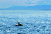 Kayaking on Gulf of  St. Lawrence <br />
