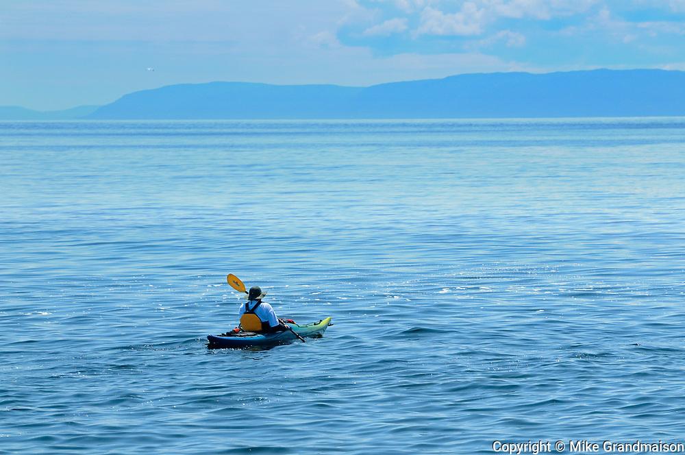 Kayaking on Gulf of  St. Lawrence <br />Cap-de-Bon-Desir<br />Quebec<br />Canada