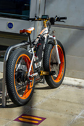 The FAT TIRE 1000W mountain e-bike top 022 means business but not sure more exercise with an Electric bike was the idea