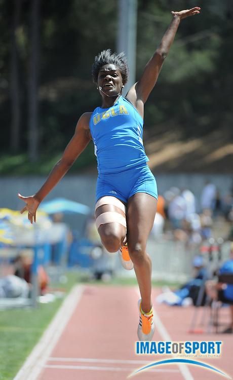 May 3, 2008; Los Angeles, CA, USA: Rhonda Watkins of UCLA won the women's long jump at 21-2 1/2 (6.46m) in dual meet against Southern California at Drake Stadium.