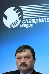 General Manager of Steaua Constantin Cazacu at handball match of 4th Round of EHF Men Championsleague between RK Cimos Koper (SLO) and Steaua MFA Bucuresti (ROM), in Arena Bonifika, Koper, Slovenia, on November 8, 2008. Steaua  won the match 30:29.
