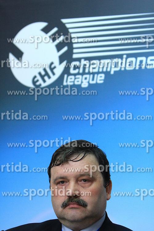 General Manager of Steaua Constantin Cazacu at handball match of 4th Round of EHF Men Championsleague between RK Cimos Koper (SLO) and Steaua MFA Bucuresti (ROM), in Arena Bonifika, Koper, Slovenia, on November 8, 2008. Steaua  won the match 30:29.