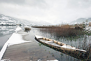 Lake Plav after October snowfall, Plav, Peaks of the Balkans trail, Montenegro © Rudolf Abraham