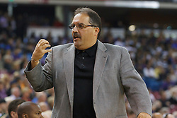 Jan 8, 2012; Sacramento, CA, USA; Orlando Magic head coach Stan Van Gundy on the sidelines against the Sacramento Kings during the first quarter at Power Balance Pavilion. Orlando defeated Sacramento 104-97. Mandatory Credit: Jason O. Watson-US PRESSWIRE