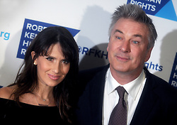 Hilaria Thomas Baldwin and Alec Baldwin attending the Robert F. Kennedy Human Rights 2016 Ripple of Hope Award at New York Hilton Midtown on December 6, 2016 in New York City, NY, USA; Photo by Dennis Van Tine/ABACAPRESS.COM