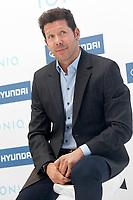 Atletico de Madrid's coach coach Diego Pablo Cholo Simeone during the presentation of the new Hyundai Ionic. October 10, 2016. (ALTERPHOTOS/Acero)
