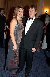 JOHN & MOLLY BEDINGFIELD parents of singers Daniel & Natasha Bedingfield at 'A Rout' an evening of late evening party, essentially of revellers in aid of the Great Ormond Street Hospital Children's Charity and held at Claridge's, Brook Street, London W1 on 25th January 2005.<br />
