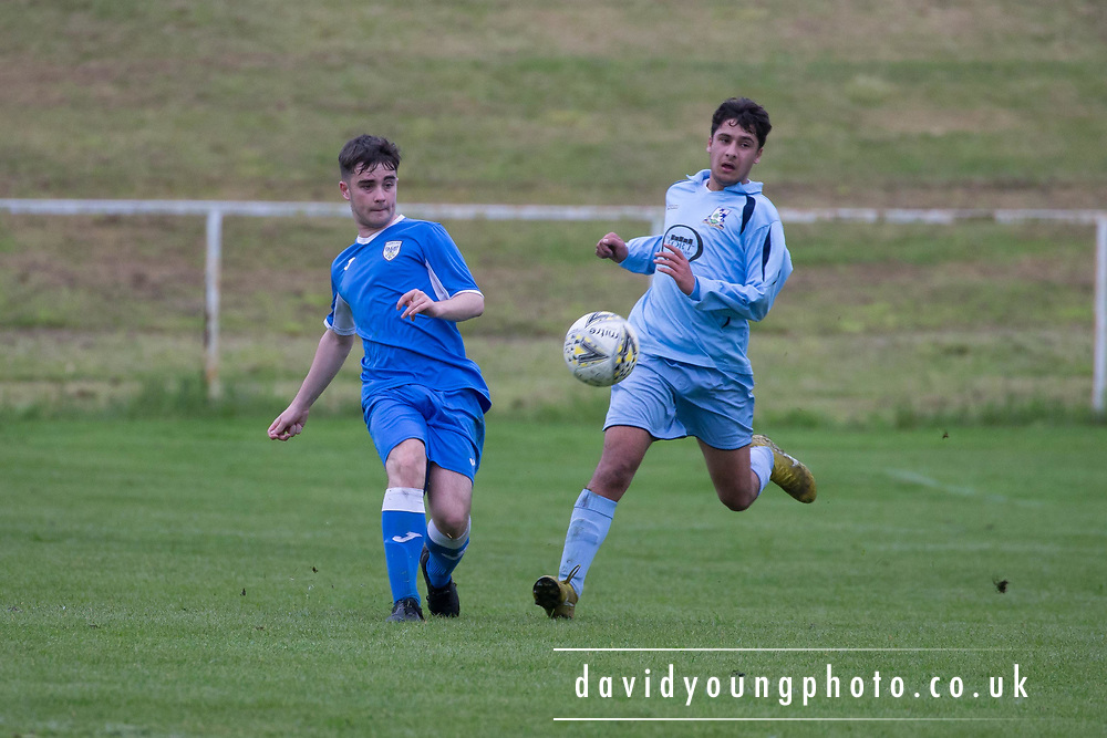 St.John's (royal blue) v Grove (light blue) - U16 Robert Caira Memorial Trophy Final  (sponsored by DSA at East Craigie