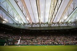 LONDON, ENGLAND - Friday, June 24, 2011: Andy Murray (GBR) in action during the Gentlemen's Singles 3rd Round match on day five of the Wimbledon Lawn Tennis Championships at the All England Lawn Tennis and Croquet Club. (Pic by David Rawcliffe/Propaganda)