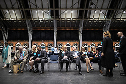 © Licensed to London News Pictures . 26/05/2019. Manchester, UK. Brexit Party supporters . The count for seats in the constituency of North West England in the European Parliamentary election , at Manchester Central convention centre . Photo credit: Joel Goodman/LNP