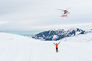 Das Alpine Notsignal dient als einfaches Kommunikationsmittel mit der Besatzung des Helikopters.<br /> <br /> Avalanche rescue skills training SAC-Pilatus