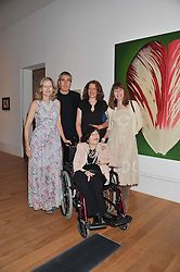 Left to right, FLORA BROOKES, ADAM McEWEN, SAM McEWEN and CHRISTABEL HOLLAND with their mother ROMANA McEWEN at a private view of work by the late Rory McEwen - The Colours of Reality, held at the Shirley Sherwood Gallery, Kew Gardens, London on 20th May 2013.