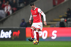 January 13, 2018 - Braga, Braga, Portugal - Braga's Serbian defender Lazar Rosic in action during the Premier League 2017/18 match between SC Braga and SL Benfica, at Municipal de Braga Stadium in Braga on January 13, 2018. (Credit Image: © Dpi/NurPhoto via ZUMA Press)