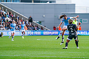 Manchester City Women forward Caroline Weir (19) takes a shot during the FA Women's Super League match between Manchester City Women and BIrmingham City Women at the Sport City Academy Stadium, Manchester, United Kingdom on 12 October 2019.