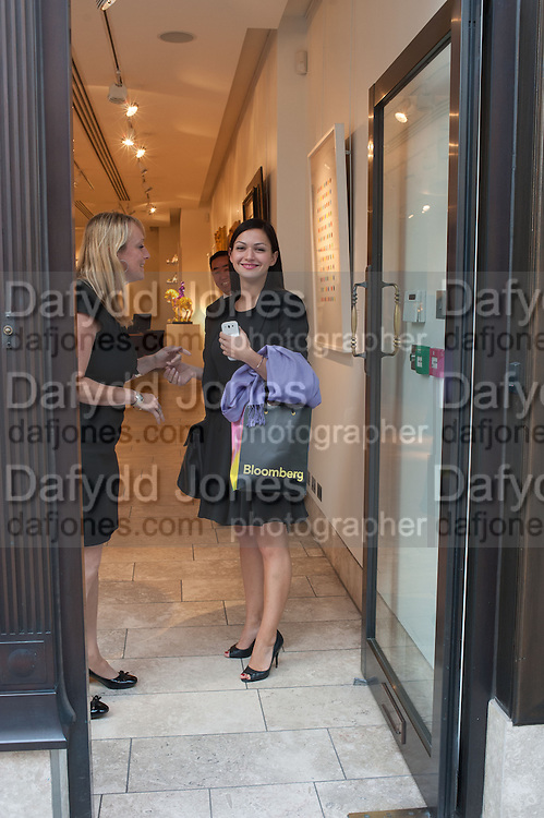 KATERYNA BOGACHUK, Vogue's Fashion night out special opening of the Halcyon Gallery.  New Bond St. London. 6 December 2012.