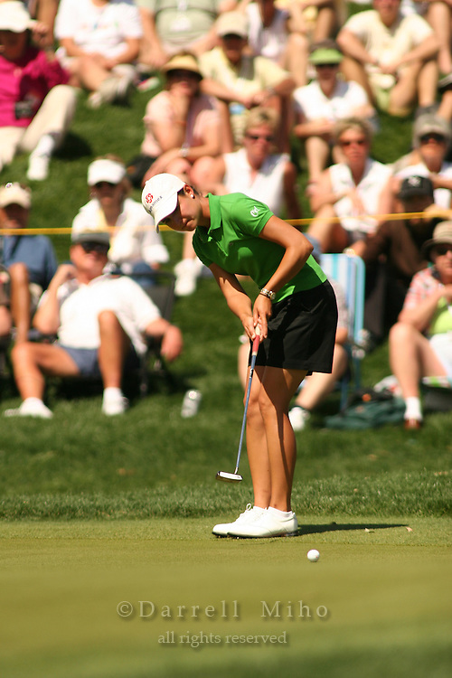 Apr. 2, 2006; Rancho Mirage, CA, USA; Lorena Ochoa putts on the 17th green during the final round of the Kraft Nabisco Championship at Mission Hills Country Club. ..Mandatory Photo Credit: Darrell Miho.Copyright © 2006 Darrell Miho .