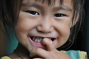 Darjeeling, West Bengal, India Portrait of a young child