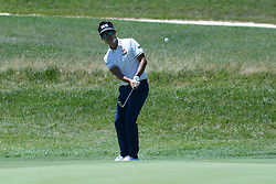 July 8, 2018 - White Sulphur Springs, WV, U.S. - WHITE SULPHUR SPRINGS, WV - JULY 08: Kevin Na hits his chip on the third green during the final round of the Military Tribute at the Greenbrier in White Sulphur Springs, WV, on July 8, 2018.(Photo by Brian Bishop/Icon Sportswire) (Credit Image: © Brian Bishop/Icon SMI via ZUMA Press)