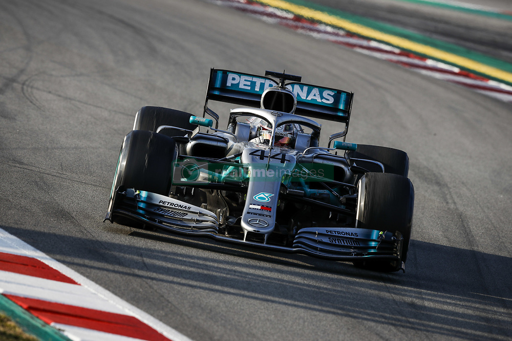 February 20, 2019 - Barcelona, Spain - HAMILTON Lewis (gbr), Mercedes AMG F1 GP W10 Hybrid EQ Power+, action during Formula 1 winter tests from February 18 to 21, 2019 at Barcelona, Spain - Photo  /  Motorsports: FIA Formula One World Championship 2019, Test in Barcelona, (Credit Image: © Hoch Zwei via ZUMA Wire)