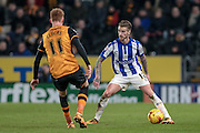 Joe Bennett (Sheffield Wednesday) during the Sky Bet Championship match between Hull City and Sheffield Wednesday at the KC Stadium, Kingston upon Hull, England on 26 February 2016. Photo by Mark P Doherty.