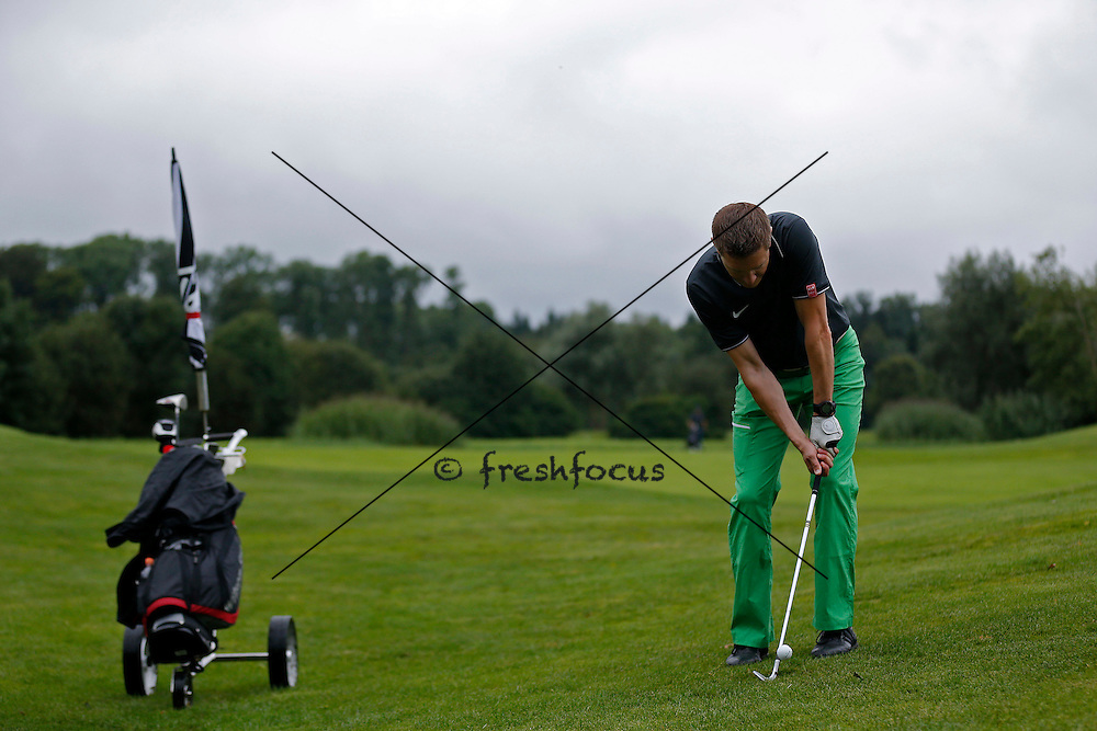 30.07.2014; Luterbach; Eishockey - Swiss Ice Hockey Golf Trophy 2014;   Jens Keel(Christian Pfander/freshfocus)