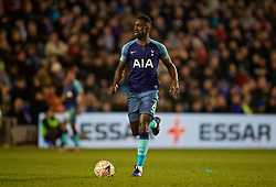 BIRKENHEAD, ENGLAND - Friday, January 4, 2019: Tottenham Hotspur's Dávinson Sánchez during the FA Cup 3rd Round match between Tranmere Rovers FC and Tottenham Hotspur FC at Prenton Park. (Pic by David Rawcliffe/Propaganda)