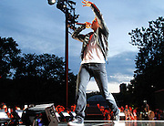 Derek Hough performs during the Lip Sync Battle Live at SummerStage in Rumsey Playfield Central Park in New York City, New York on July 13, 2015.