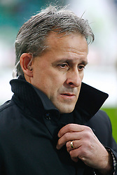 12.02.2010, Volkswagen Arena, Wolfsburg, GER, 1.FBL, VfL Wolfsburg vs Hamburger SV, im Bild Pierre Littbarski (Chef-Trainer Wolfsburg) EXPA Pictures © 2011, PhotoCredit: EXPA/ nph/  Schrader       ****** out of GER / SWE / CRO  / BEL ******