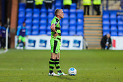 Forest Green Rovers Marcus Kelly(10) prepares to take a free kick during the Vanarama National League match between Tranmere Rovers and Forest Green Rovers at Prenton Park, Birkenhead, England on 11 April 2017. Photo by Shane Healey.