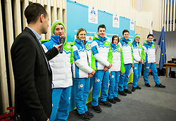 Matic Svab and Domen Prevc during presentation of Slovenian Young Athletes before departure to EYOF (European Youth Olympic Festival) in Vorarlberg and Liechtenstein, on January 21, 2015 in Bled, Slovenia. Photo by Vid Ponikvar / Sportida