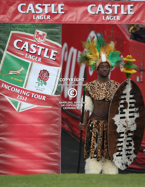 JOHANNESBURG, SOUTH AFRICA - JUNE 16, Dancer entertain the crowd during the 2nd Castle Lager Incoming Tour test match between South Africa and England from Coca Cola Park on June 16, 2012 in Johannesburg, South Africa<br /> Photo by Steve Haag / Gallo Images