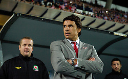 OSIJEK, CROATIA - Tuesday, October 16, 2012: Wales' manager Chris Coleman before the Brazil 2014 FIFA World Cup Qualifying Group A match against Croatia at the Stadion Gradski Vrt. (Pic by David Rawcliffe/Propaganda)